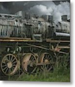 Abandoned Steam Locomotive  Metal Print