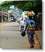 African Street Scene Metal Print