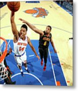 Atlanta Hawks V New York Knicks Metal Print