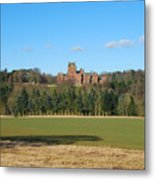 Ayton Castle From South, Berwickshire Metal Print