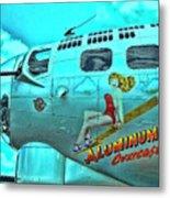B-17 Aluminum Overcast Pin-up Metal Print