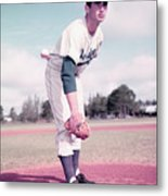 Baseball Player Sandy Koufax Metal Print