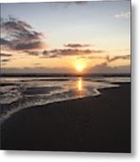 Beach Sunset, Blackpool, Uk 09/2017 Metal Print