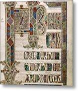 Book Of Lindisfarne Metal Print