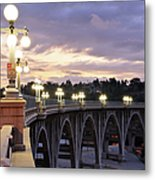 Bridge At Sunset Metal Print