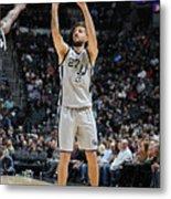 Brooklyn Nets V San Antonio Spurs Metal Print