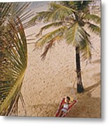 Caribe Hilton Beach Metal Print