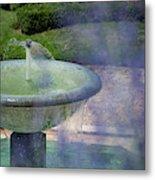 Castel Fountain Metal Print