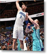 Charlotte Hornets V Orlando Magic Metal Print