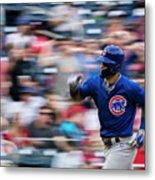 Chicago Cubs V Washington Nationals Metal Print