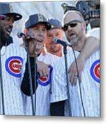Chicago Cubs Victory Celebration Metal Print