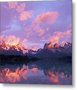 Chile, Patagonia, Torres Del Paine Np Metal Print