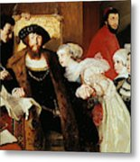Christian II Signing The Death Warrant Of Torben Oxe  Metal Print