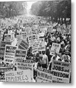 Civil Rights March On Washington Metal Print