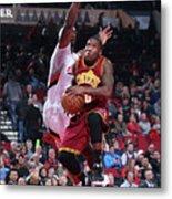 Cleveland Cavaliers V Portland Trail Metal Print