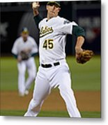 Cleveland Indians V Oakland Athletics - Metal Print