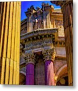 Columns Of The Palace Of Fine Arts Metal Print