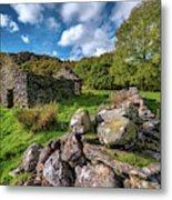 Cottage Ruin Snowdonia Metal Print