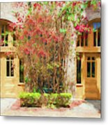 Courtyard Doors St Augustine 002 Metal Print