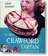 Crawford Tartan Shortbread Metal Print