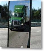 Green Freightliner Publix Metal Print