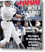Daily News Front Page Derek Jeter Metal Print