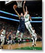 Dallas Mavericks V Boston Celtics Metal Print