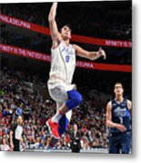 Dallas Mavericks V Philadelphia 76ers Metal Print