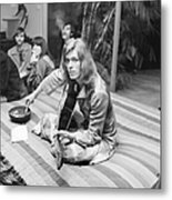 David Bowie At Bingeheimer Party Metal Print