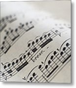 Detail Of Sheet Music Metal Print