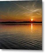 Dog Lake Sunset Metal Print