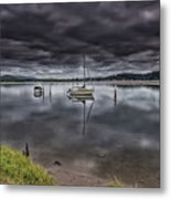 Early Morning Clouds And Reflections On The Bay Metal Print