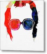Elton Watercolor Metal Print