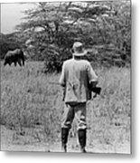 Ernest Hemingway On Safari Metal Print