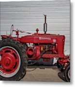 Farmall M And Steel Metal Print