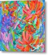 Flower Twirl Metal Print