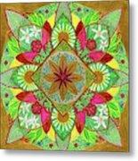 Flower Garden Mandala Metal Print