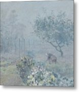 Foggy Morning, Voisins, 1874 Metal Print