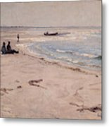 From The Beach At Sele  Metal Print