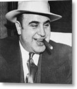 Gangster Al Capone Smoking Cigar Metal Print