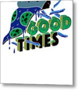 Good Old Times Pizza Fries Born In The 90s Husband Wife Metal Print