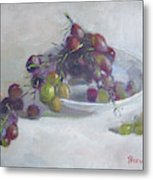 Greek Grapes Metal Print