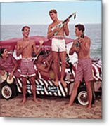 Guys And Gals On The Beach Metal Print