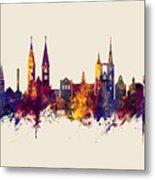Halberstadt Germany Skyline Metal Print