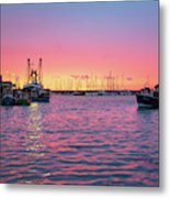 Harbour Lights Metal Print