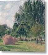 Haystacks, Morning, Eragny, 1899 Metal Print