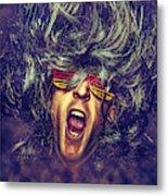 Heavy Metal Rock Star Metal Print