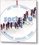 Ice Hockey - Winter Olympics Day 9 - Metal Print