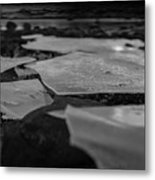 Ice Layer On The Seafloor Metal Print