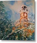 Ice On Old Main Metal Print